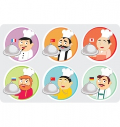 national cuisines vector image