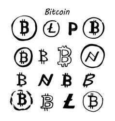 set for internet money vector image