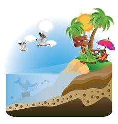 Treasure Island vector image
