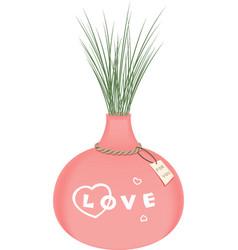 vase of love vector image vector image
