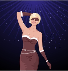 disco party girl vector image