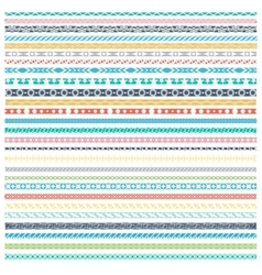 Geometric dividers vintage fashion patterns vector image vector image