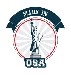 made in usa statue of liberty banner design vector image
