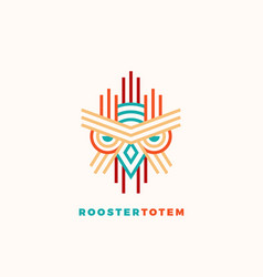 Rooster totem abstract sign emblem or logo vector
