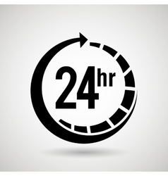 service 24 hours design vector image