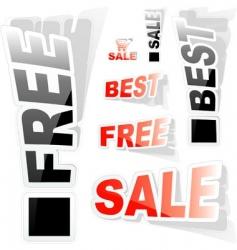 sticker set for sale vector image