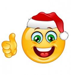 christmas emoticon vector image vector image
