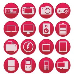 Electronic Technology Device Icon Gradient Style vector image