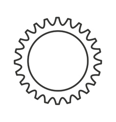 gear machine settings isolated icon vector image