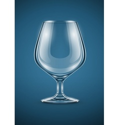 glass goblet for brandy drinks vector image