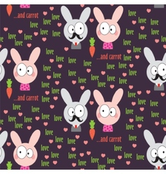 Rabbit Pattern vector image vector image