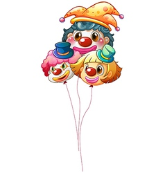 Three clown balloons vector image vector image