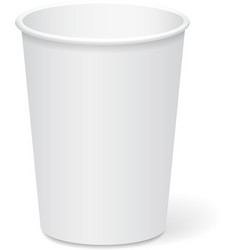 White paper cup template for coffee or tea to take vector image