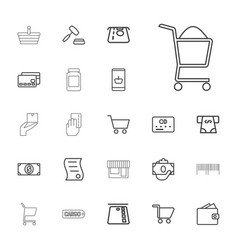 22 commerce icons vector