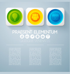 Abstract web infographic template vector