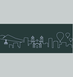 Albuquerque single line skyline vector
