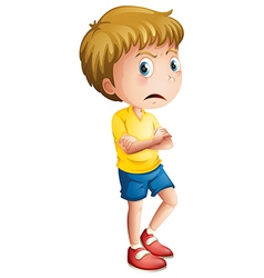 An angry young boy vector image