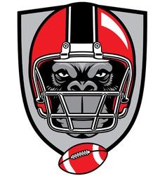Ape football mascot vector