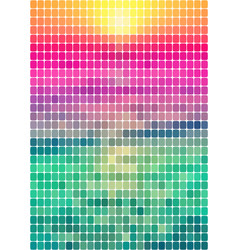 Background of colorful rectangles sunset vector