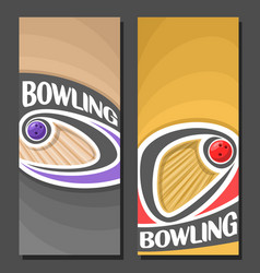 Banners for bowling vector