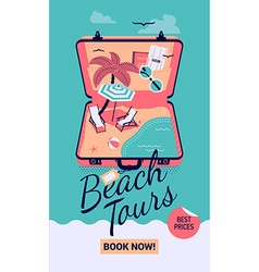 Beach Tours Promotional Poster vector image