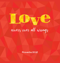 bible verse love covers vector image