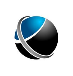 blue way globe network symbol design vector image
