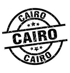 cairo black round grunge stamp vector image