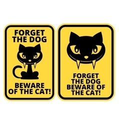Cat sign vector image