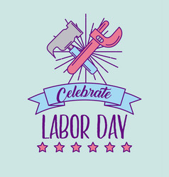 Celebrate labor day vector