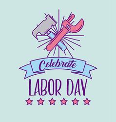 celebrate labor day vector image