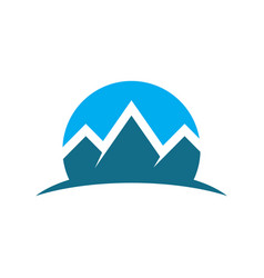 circle mountain expedition logo image vector image