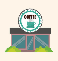 coffee shop marketing building vector image