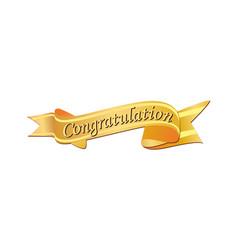 Congratulation logo vector