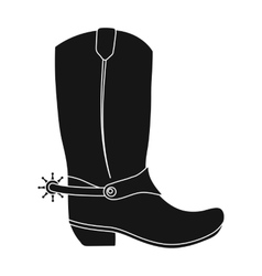 Cowboy boots icon in monochrome style isolated on vector