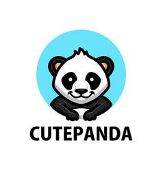 cute panda cartoon logo icon vector image