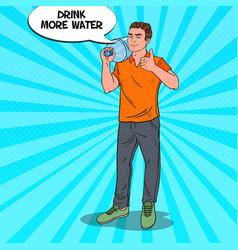 deliveryman holding water jug pop art vector image
