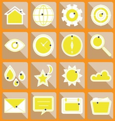 Design useful web icons on button vector image