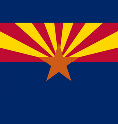 flag of the usa state of arizona vector image