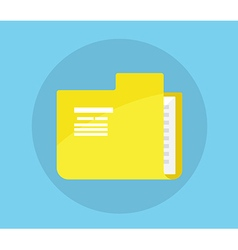 Folder Icon Flat Design vector image