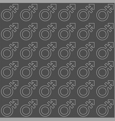 Gender icon seamless endless pattern transgender vector