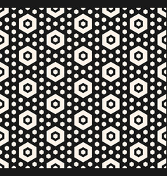 geometric seamless pattern with hexagons vector image