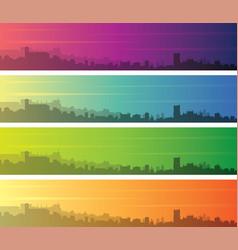 granada multiple color gradient skyline banner vector image