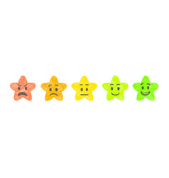 hand drawn rate stars feedback emoticons stars vector image