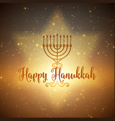 Hanukkah background with menorah and vector