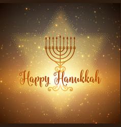 Hanukkah background with menorah vector