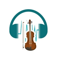 Headphone cello music sound vector