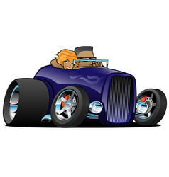Highboy hot rod deep purple roadster vector