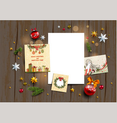 Holiday winter template vector
