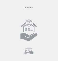 Hous protection services - minimal modern icon vector